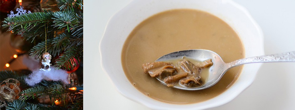 Dried Mushrooms Soup