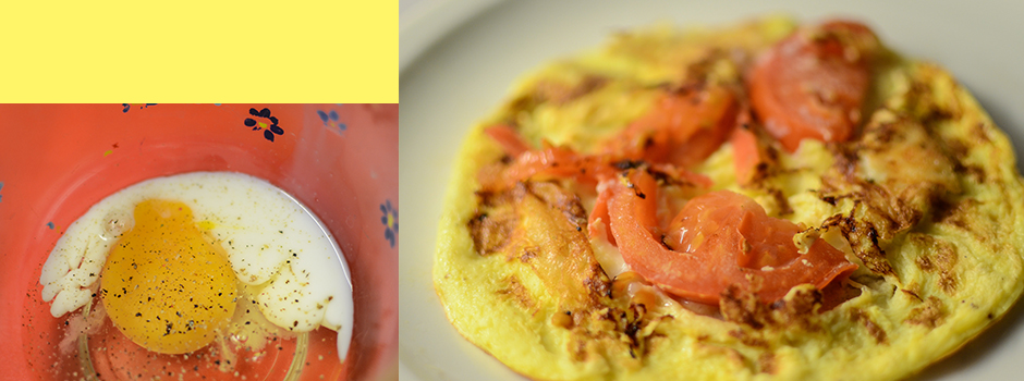 Omelettes with Goat Cheese and Tomatoes