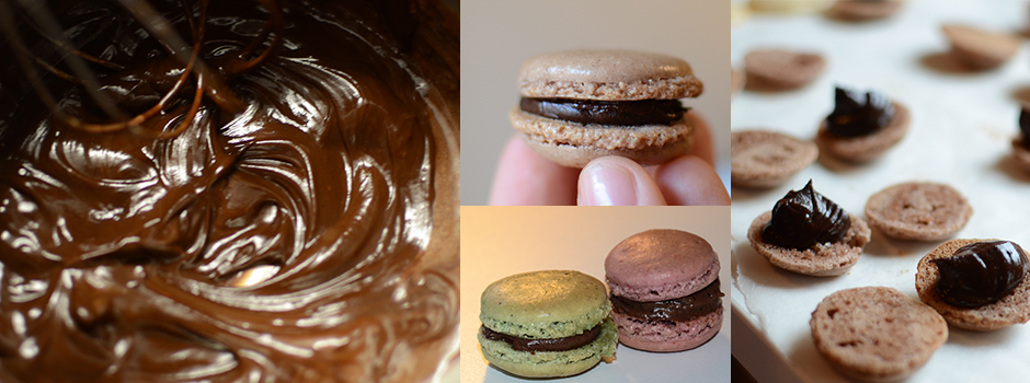 Easy chocolate cream (eg. for macarons)