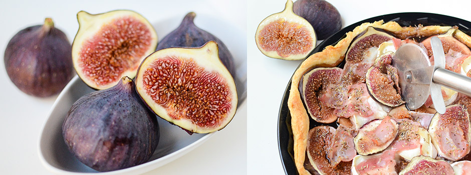French Tart with Figs & Goat Cheese