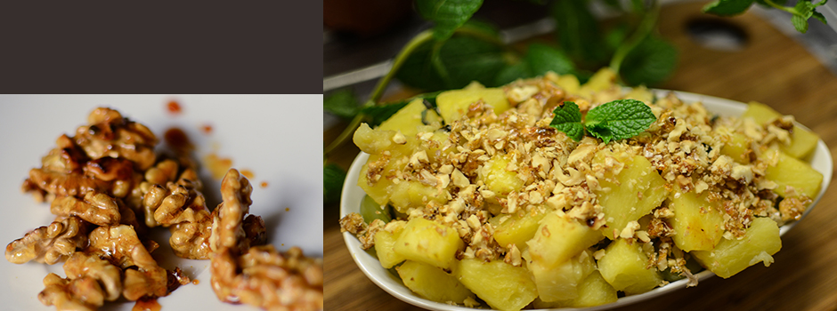 Fruit Salad with Caramelised Nuts