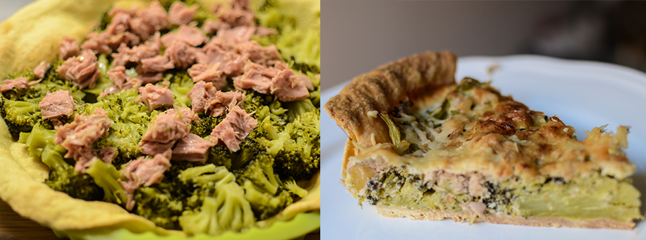 French Quiche with Broccoli & Tuna