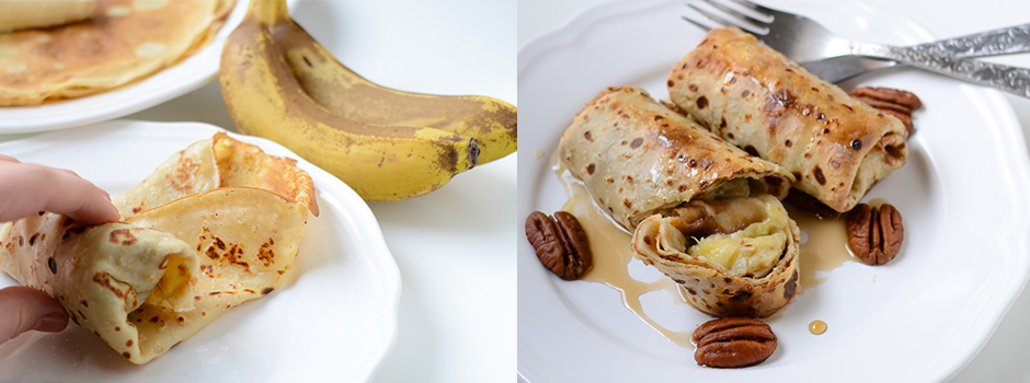 Baked Oatmeal Pancakes with Bananas