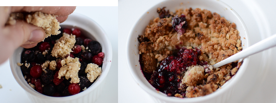 Oat meal Crumble with Berries