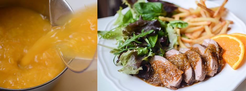 Duck with Orange & Honey Sauce