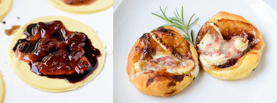 Express: Goat cheese baked with Figs and Bacon on the Puff Pastry