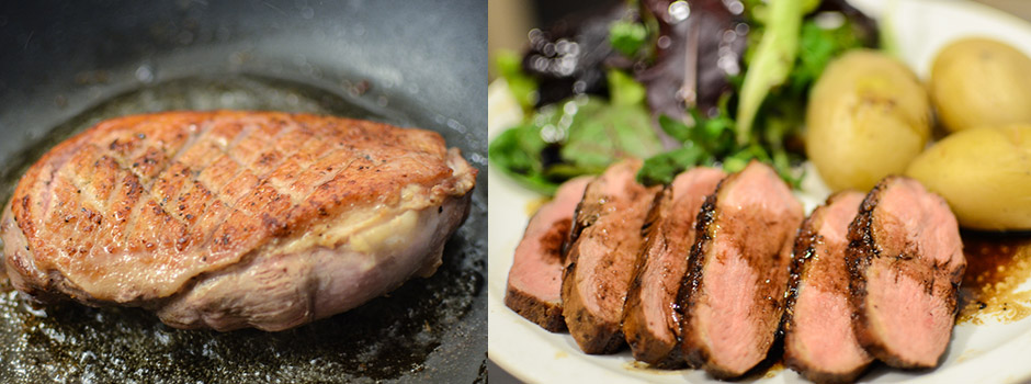 How to fry the  duck breast fillets (or magret)