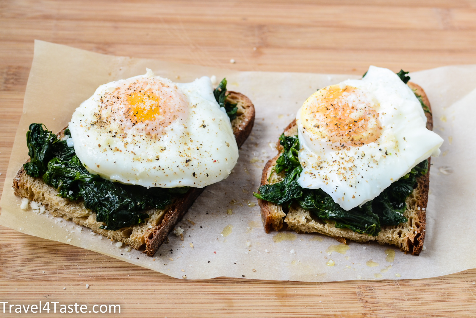 15 Minutes Breakfast Recipe Toast With Spinach And Egg