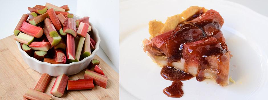 Rhubarb Tare with Vanilla Pudding & Syrup