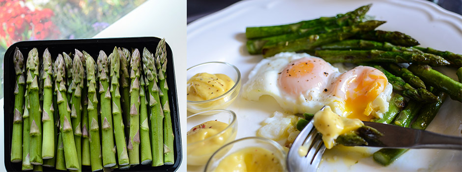 Asparagus with Poached Eggs (a perfect breakfast!)
