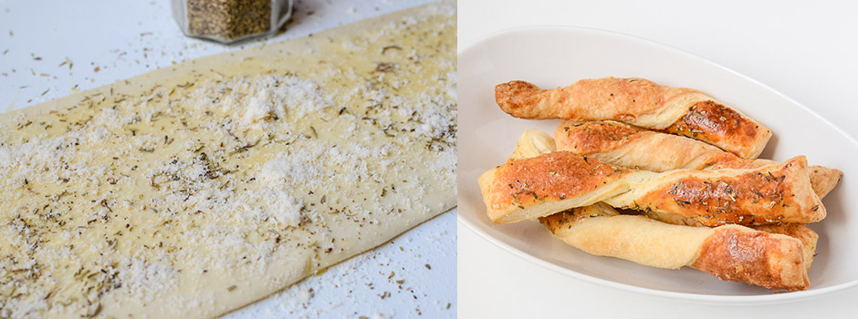 Puff Pastry Sticks with Parmesan & Herbes de Provence