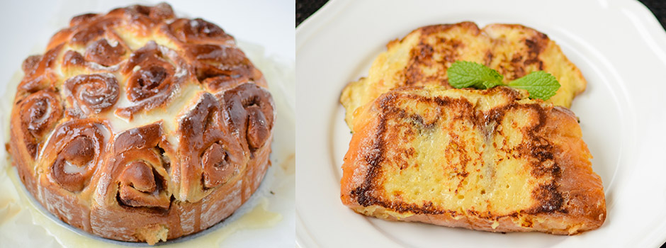 French Toasts made with Cinnamon Rolls