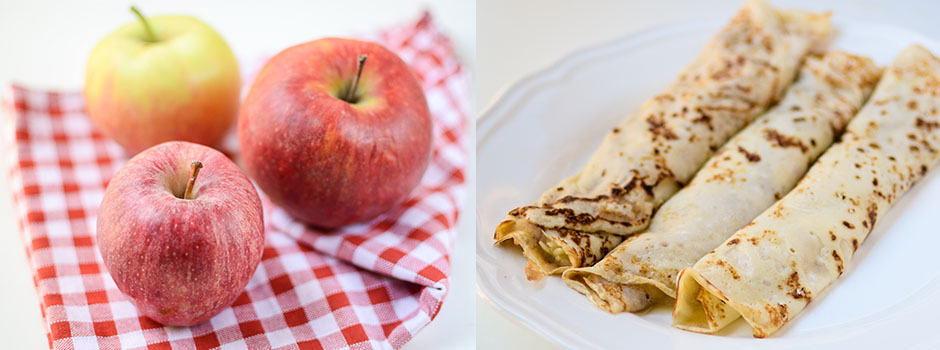 Crêpes (Pancakes) with Applesauce