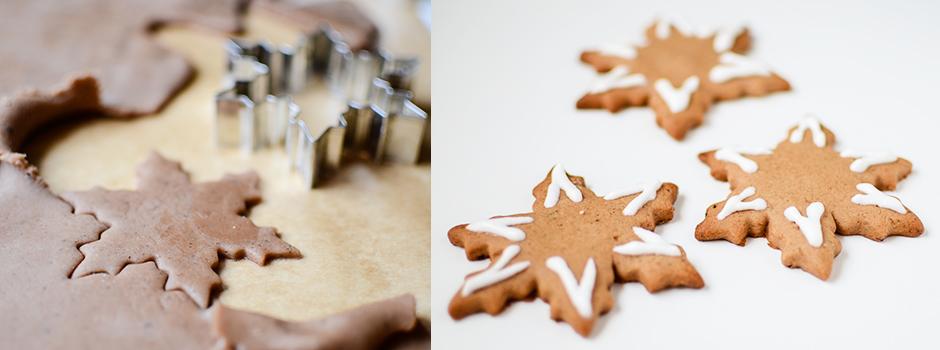 Gingerbread Cookies (Snowflakes)