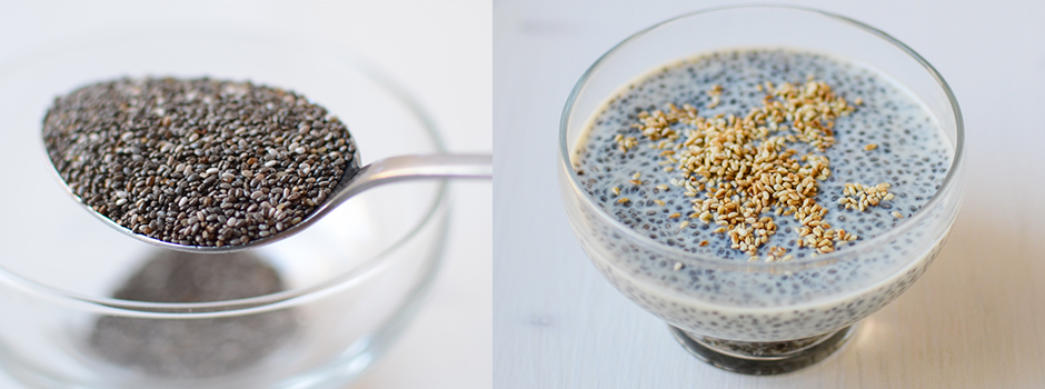 Chia Pudding with Soya and Sesame Seeds