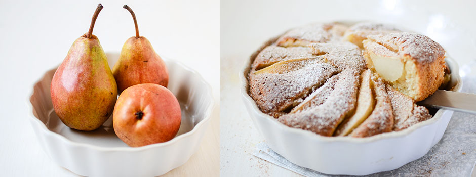 Yogurt Cake with Pears and Orange Zest