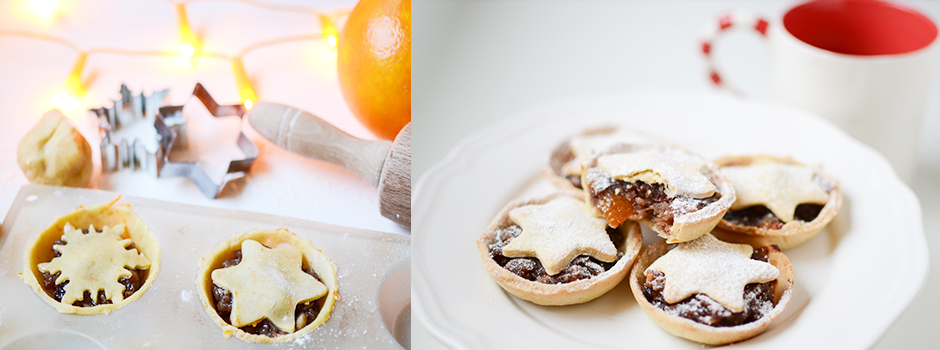 Star-topped Winter Mincemeat (Fruits & Cider) Tartlets