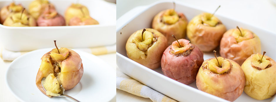 Baked Apples with Banana and Walnuts Filling