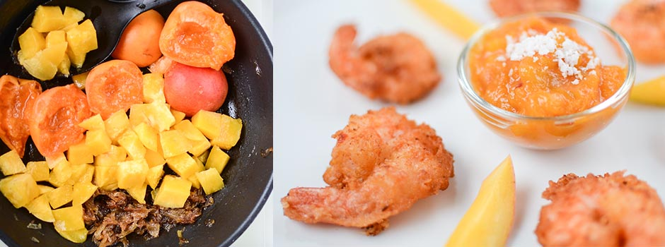 Coconut Shrimps with Spicy Mango Sauce