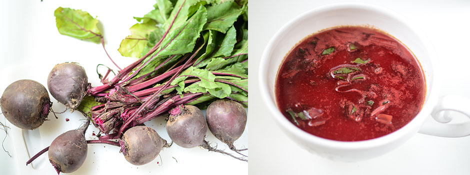 Young Beetroot Soup (pl.Botwinka)