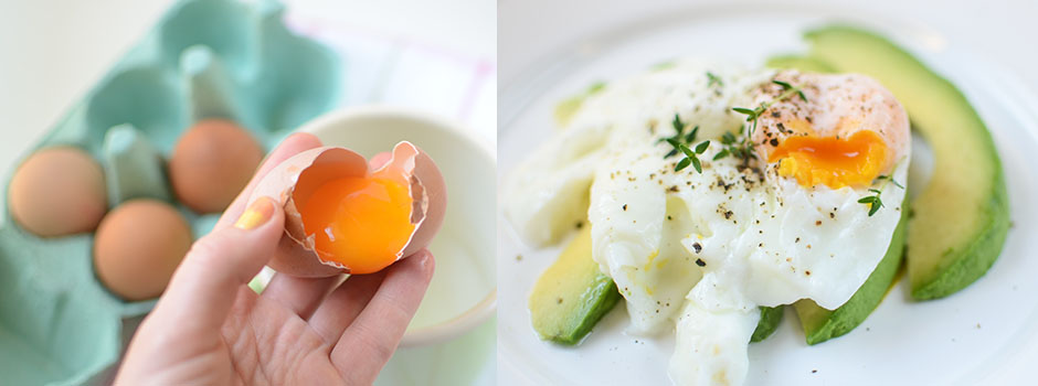 15 minutes Breakfast Recipe: Avocado with Poached Egg & Thyme
