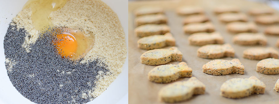 Almond Poppy seeds Crackers (3 ingredients)