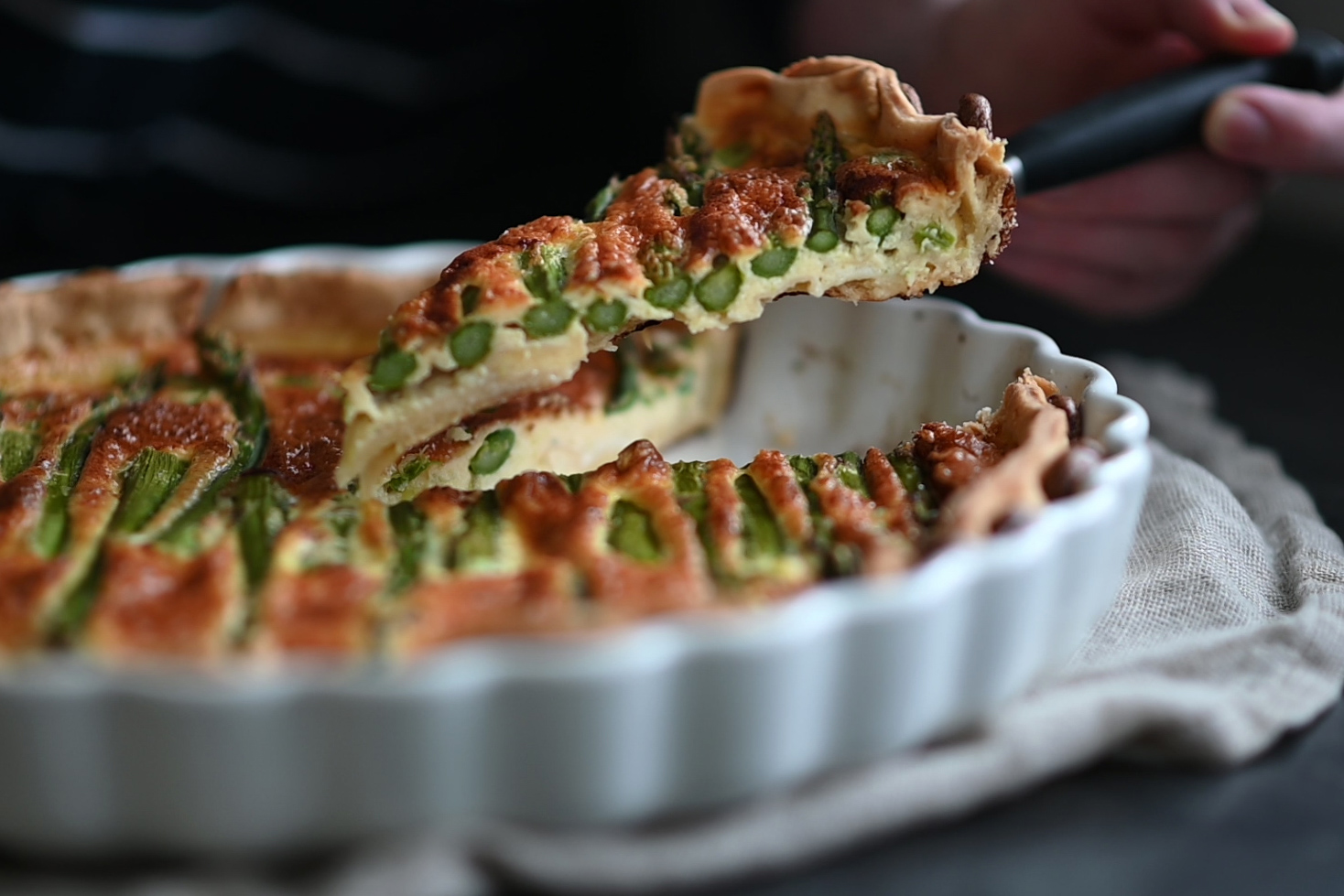 Asparagus Quiche with Gorgonzola (VIDEO)