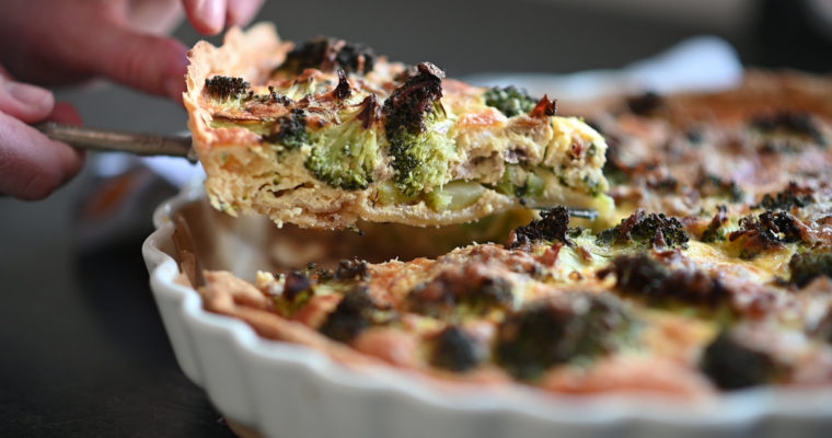 Broccoli & Tuna Quiche (VIDEO)